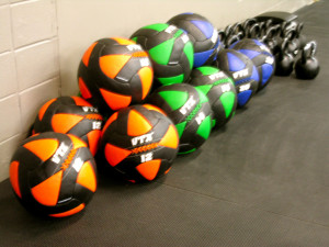 Walls balls and kettlebells